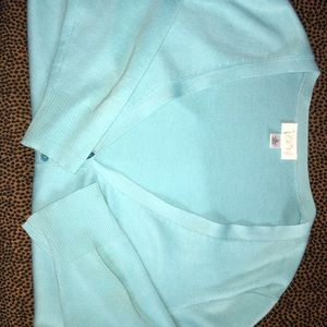 Great turquoise cotton Loft sweater!